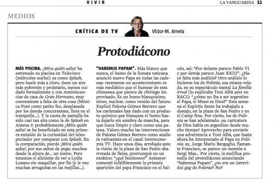 CriticaTV protodiacono 15 de marzo 2013