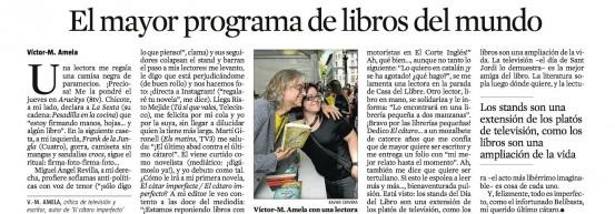 Sant Jordi por Víctor Amela El mayor programa de libros del mundo victor amela