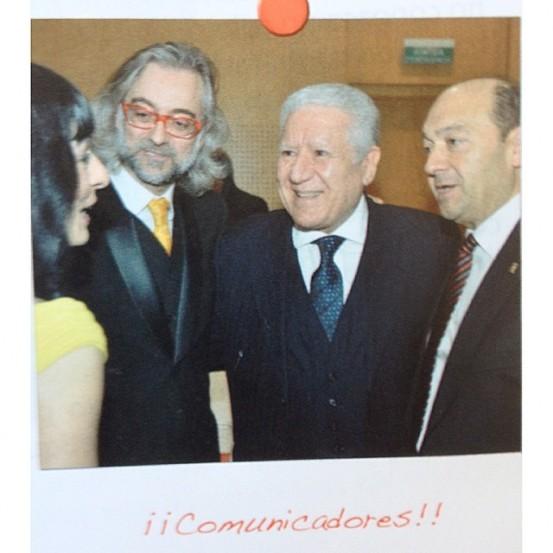 Con mi chica @roseramills, y Lluís Bassat y @c_mediavilla