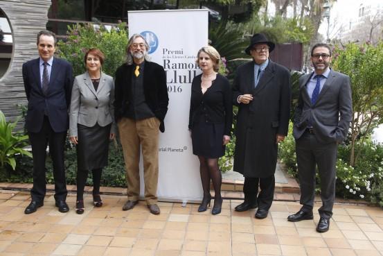 Con el jurado del premio Ramon Llull